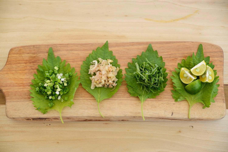 細かく刻んだ薬味野菜